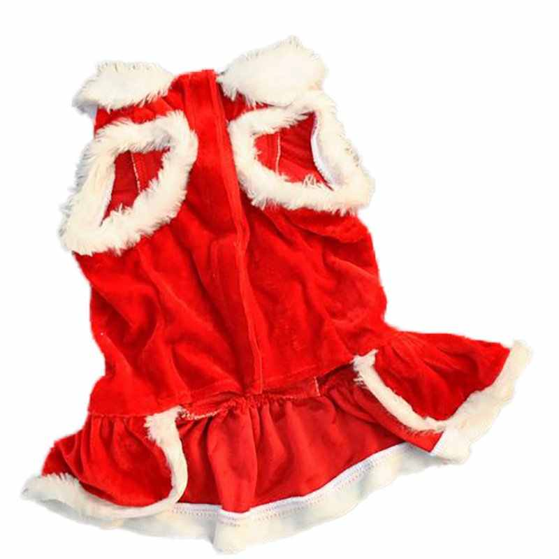 ... Christmas Dog Dress Winter Pet Dog Clothes Xmas Dog Costume yorkie  Chihuahua Cat Clothes Pet Clothing ... cf351b0a914a