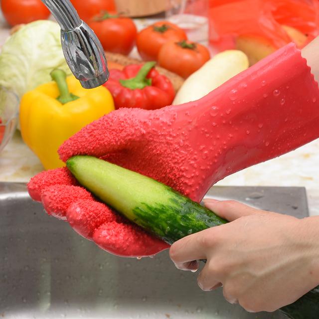 Kitchen Non-Slip Peeling Gloves