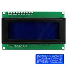 OPEN-SMART I2C / IIC 2004 LCD Blue Display Module Onboard Contrast Adjustment Potentiometer for Arduino UNO R3