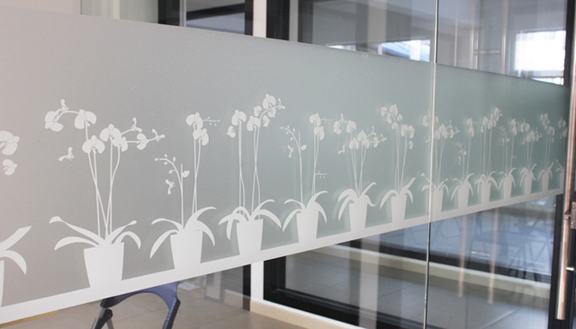Vinyl Static Cling White Frosted Privacy Decorative