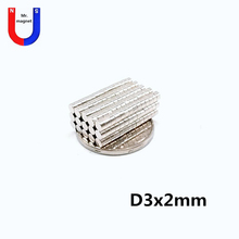 500pcs 3x2 mm N35 Mini Super Strong Powerful Neodymium Magnet Round Rare Earth Permanent Magnets 3*2mm