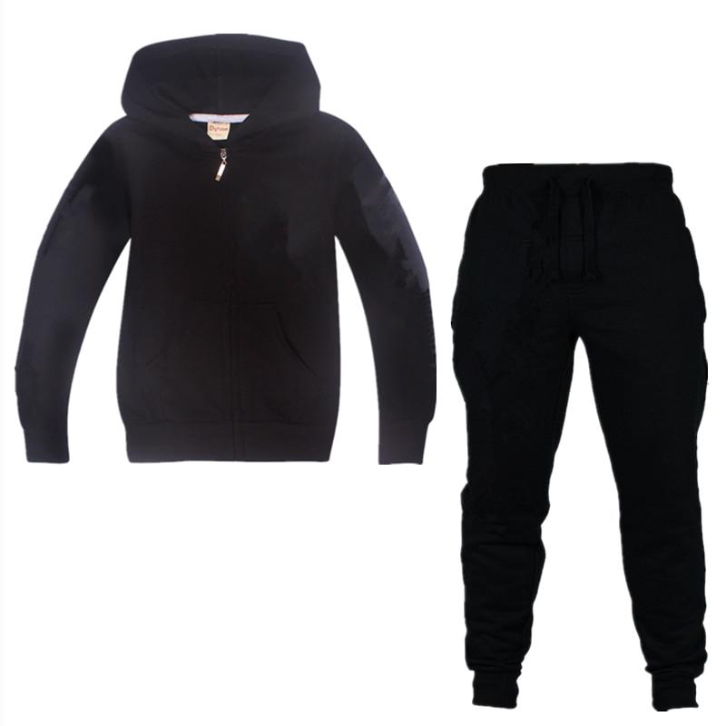 Nuevos juegos de dibujos animados Ninja mejor calidad 100% conjuntos de ropa de algodón 2019 niños niñas traje conjunto niños cremallera Sudadera con capucha chaquetas abrigo