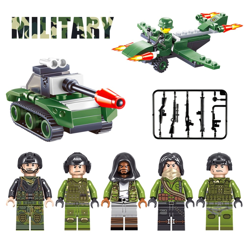 lEGOING military Police weapon gun box PUBG model single Building Blocks Bricks Model Kids Toys Compatible With LegoINGy Friends