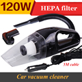 Portable Car Vacuum Cleaner for Auto 5M 120W 12V Super Suction Wet And Dry Dual Use