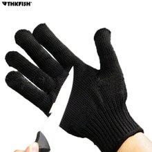 THKFISH Anti-cut Anti-slip Fishing Gloves Cut Resistant  Protective Knife Anti-cutting Full Finger Gloves Outdoor Mesh Glove