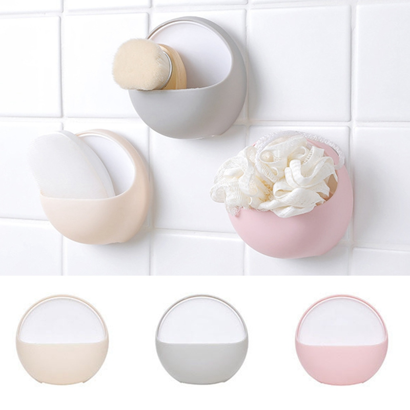 1 Pc Plastic Suction Cup Soap Toothbrush Box Dish Holder Drain Rack Bathroom Shower Accessory Bathroom Accessories