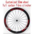 1 шт. 700C 50 мм клинчерные диски для шоссейной дорожки с фиксированным приводом для велосипеда aero 3 K/UD/12 K полностью углеродное волокно велосипе...