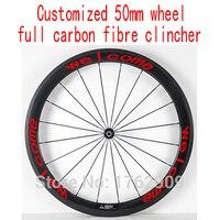 1 шт. 700c 50 мм клинчерные диски дороге с фиксированной Шестерни велосипед Aero 3 К/UD/12 К полный углеродного волокна велосипед колесных Бесплатна