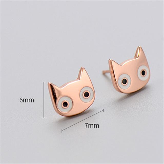 925 Sterling Silver Cat Earring