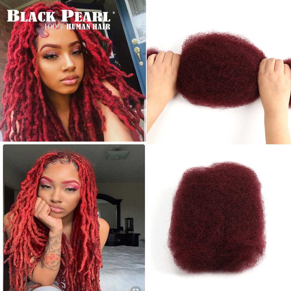 Черные жемчужные бразильские волосы remy афро кудрявые объемные человеческие волосы для плетения 1 пучок 50 г/шт. цвет 99j # косички волос не уток