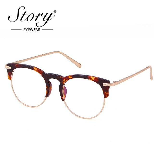 ec564ce736f STORY Brand Design Eyewear Frames Eye Glasses For Women Men Male Eyeglasses  Mirror Ladies Eyeglass Sports