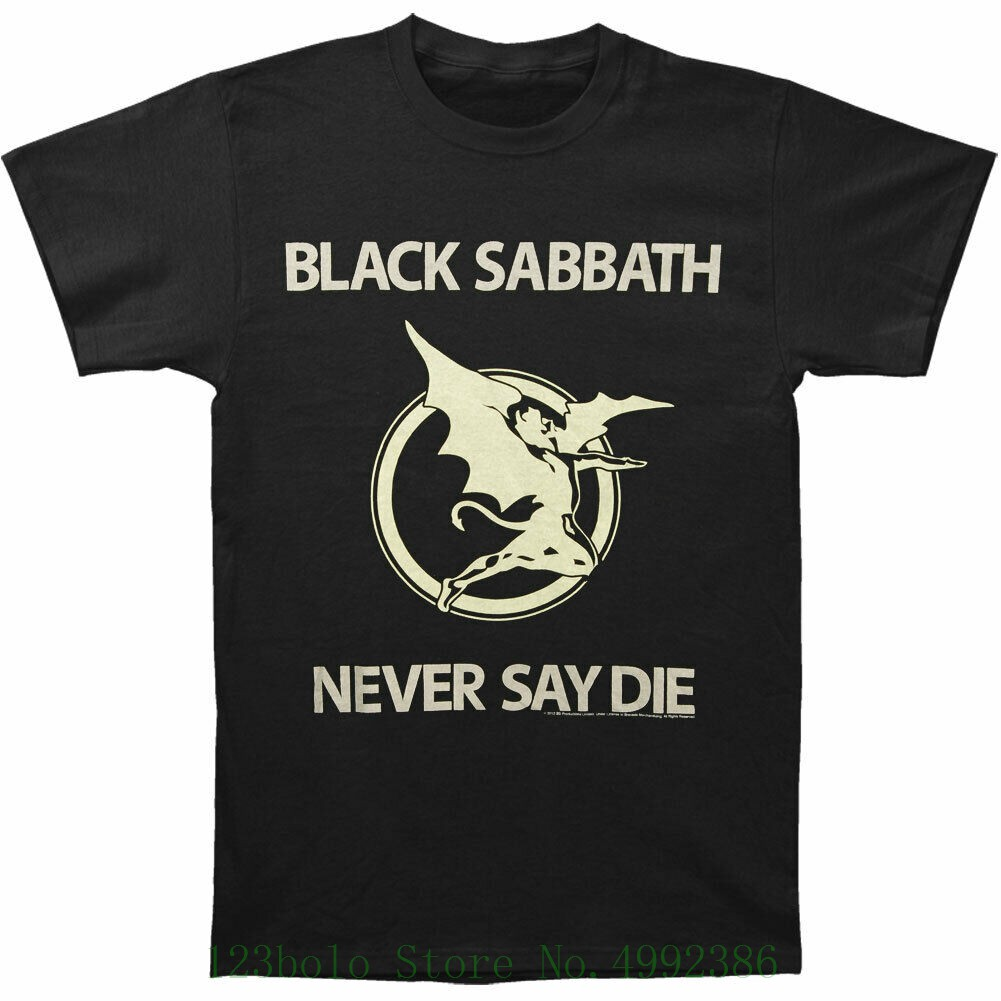 Black Sabbath Men's Never Say Die T Shirt Medium White T-shirt Male Hipster Tops