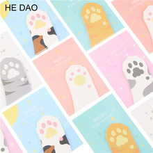 Cute Meow Cat Paw Memo Notepad Notebook Memo Pad Self-Adhesive Sticky Notes Bookmark Promotional Gift Stationery(China)