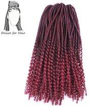 Desire для волос 1 упаковка 20 inch 24 нити 100 г предварительно крючком мягкие волос, дреды косы Ombre черный бордовый цвет