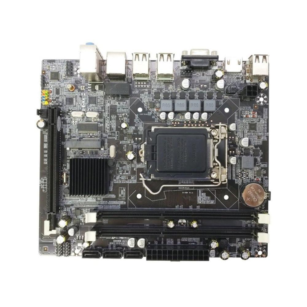 Professional Motherboard H55 A1 LGA 1156 DDR3 RAM 8G Board Desktop Computer Motherboard intel 1156 Mainboard 6 Channel Mainboard