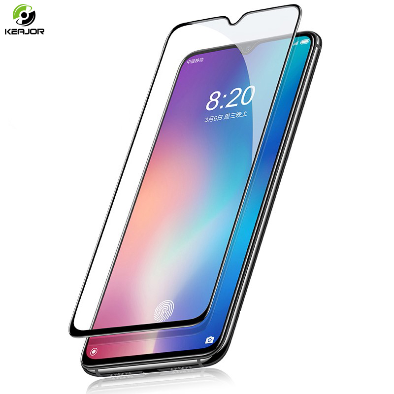Keajor Glass For Xiaomi Mi A3 CC9 Tempered Full Cover Screen Protector Film Lite CC9e Safty