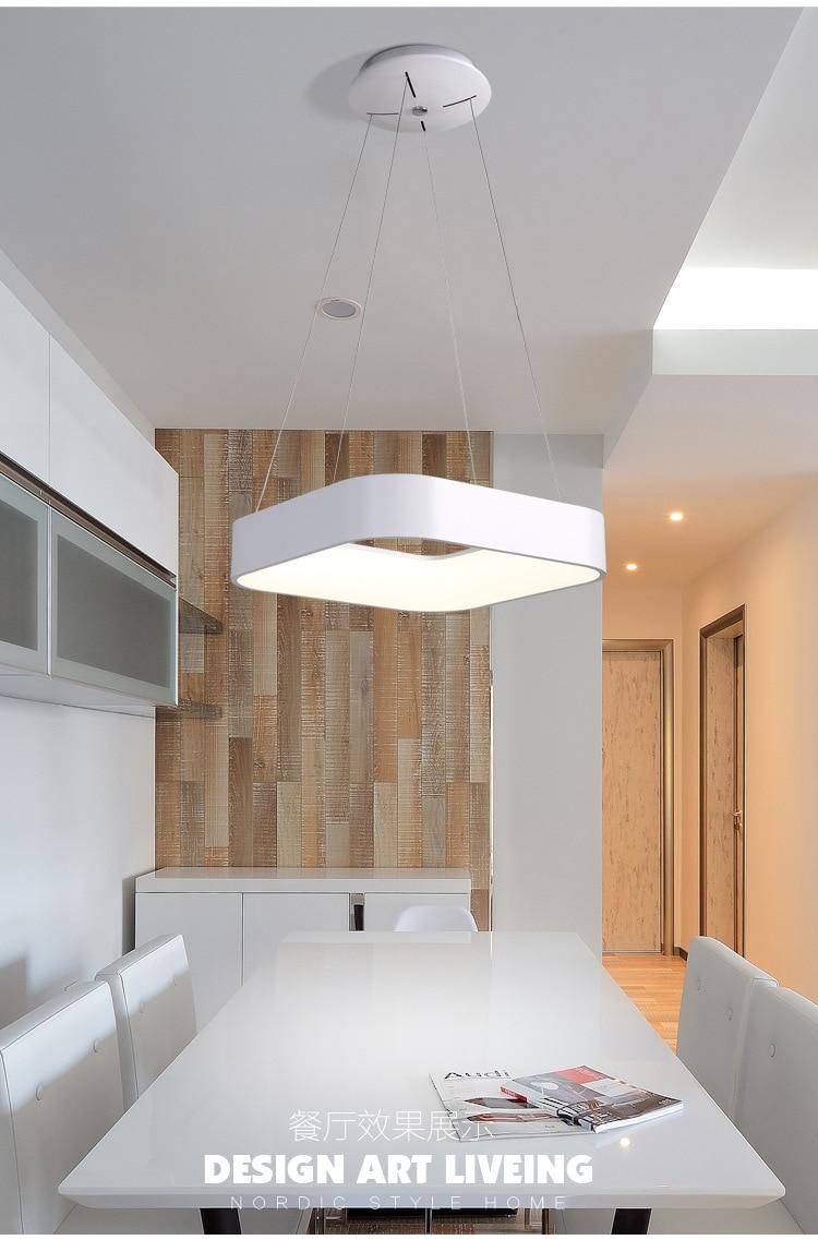 Moderne Einfache Quadratische LED Anhänger Licht Esszimmer Küche ...