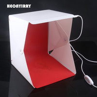 New Version Portable Folding Lightbox Photography Studio Softbox LED Light Soft Box For IPhone DSLR Camera
