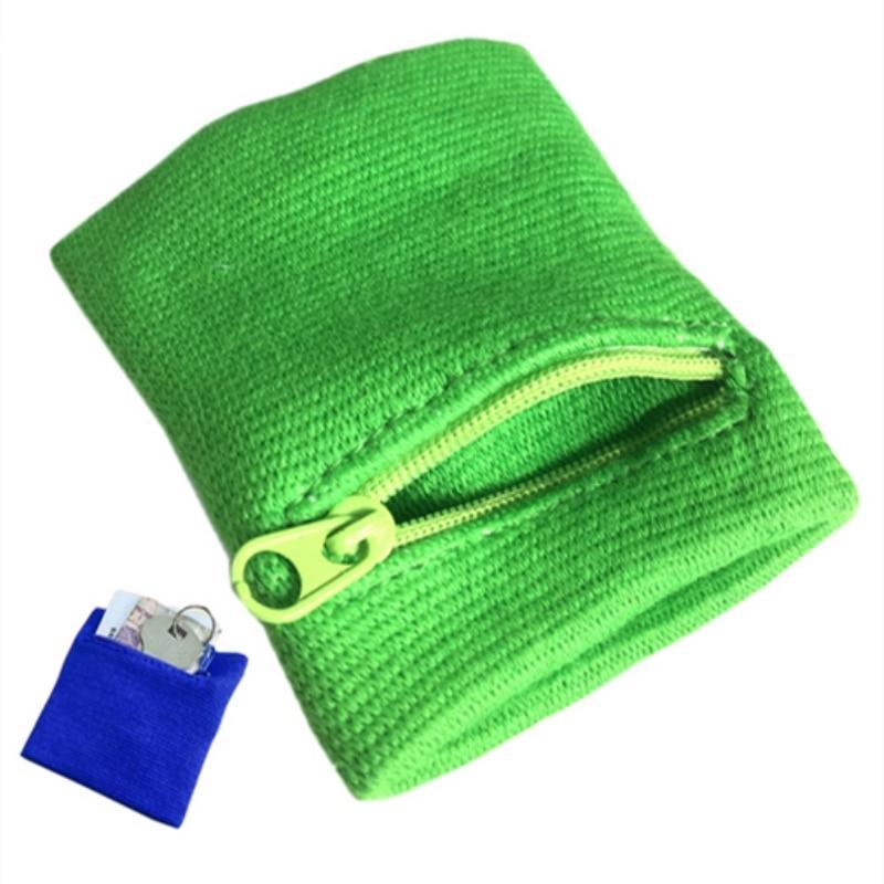 Zipper Wrist Wallet Pouch Running Sports Arm Band Bag For MP3 Key Card Storage Bag Case Badminton Basketball Wristband Sweatband