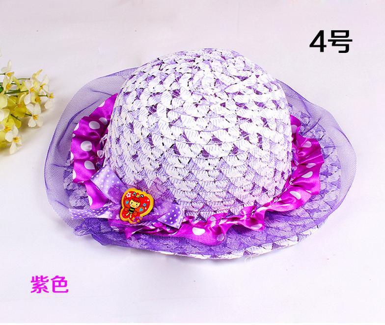Шляпы от солнца Пляжная Шляпа летняя солнцезащитный козырек шляпа корейская детская кружевная принцесса кружевной капор пляжная шляпа 4254 - Цвет: 4