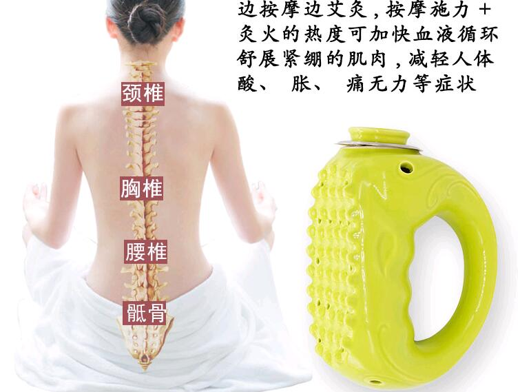 Equipment Ceramic Pot Moxibustion Tin Moxa Cupping Massage Warming Therapy For Arm Leg Abdomen Body Stress Relax цена