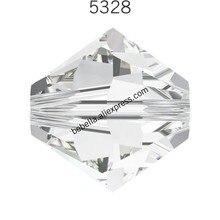 48 шт.) Оригинальные кристаллы Swarovski 5328 XILION Биконусы бусины россыпью камень розничная для изготовления ювелирных изделий