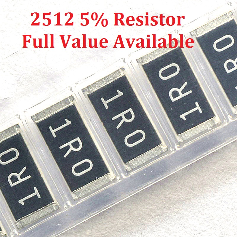 100 шт. SMD чип резистор 2512 2.4R/2.7R/3R/3.3R/3.6R 5% Сопротивление 2,4/2,7/3/3. 3/3. 6/Ом резисторы 2R4 2R7 3R3 k Бесплатная доставка