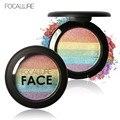 Kits de contorno bronzer highlighter rosto branqueador focallure diy rainbow rainbow kit brilho shimmer pó iluminador maquiagem
