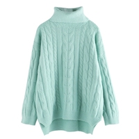 Autumn Winter Women Sweaters And Pullovers Korean Warm Turtleneck Long Sleeve Casual Loose Solid Knitted Jumpers