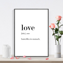 Definition Analysis of English Words Art Print Poster Love Mother Father Aunt Uncle Canvas Painting HD2113