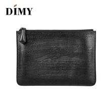 DIMY handmade genuine leather men clutch handbag designer mens wallets Purse vintage patina dropship price free shipping cheap