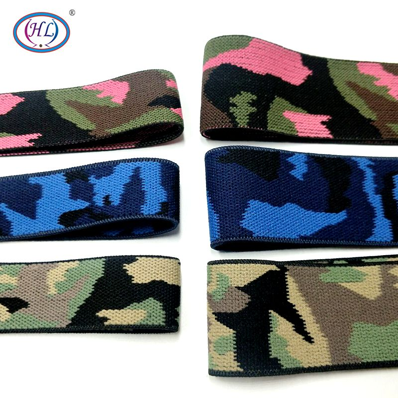 HL 38MM/25MM 1 Meter Thicken High Quality Camouflage Pattern Elastic Band Apparel Bags Home Textile Sewing Accessories DIY