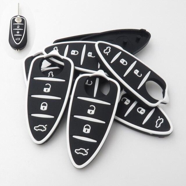 Xinyuexin Silicone clé de voiture pour Alfa Romeo 4C Mito Giulietta mythe 159 GTO GTA clé de voiture à distance