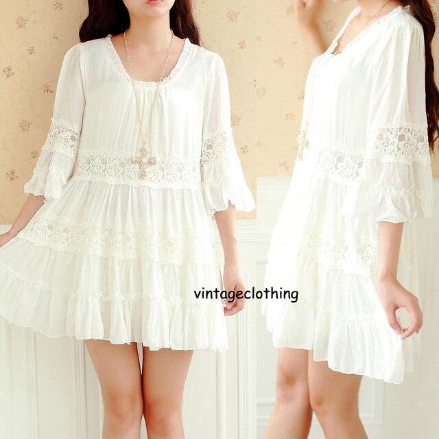 70s White Dress