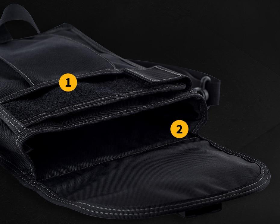 sólida masculino tático bolsas