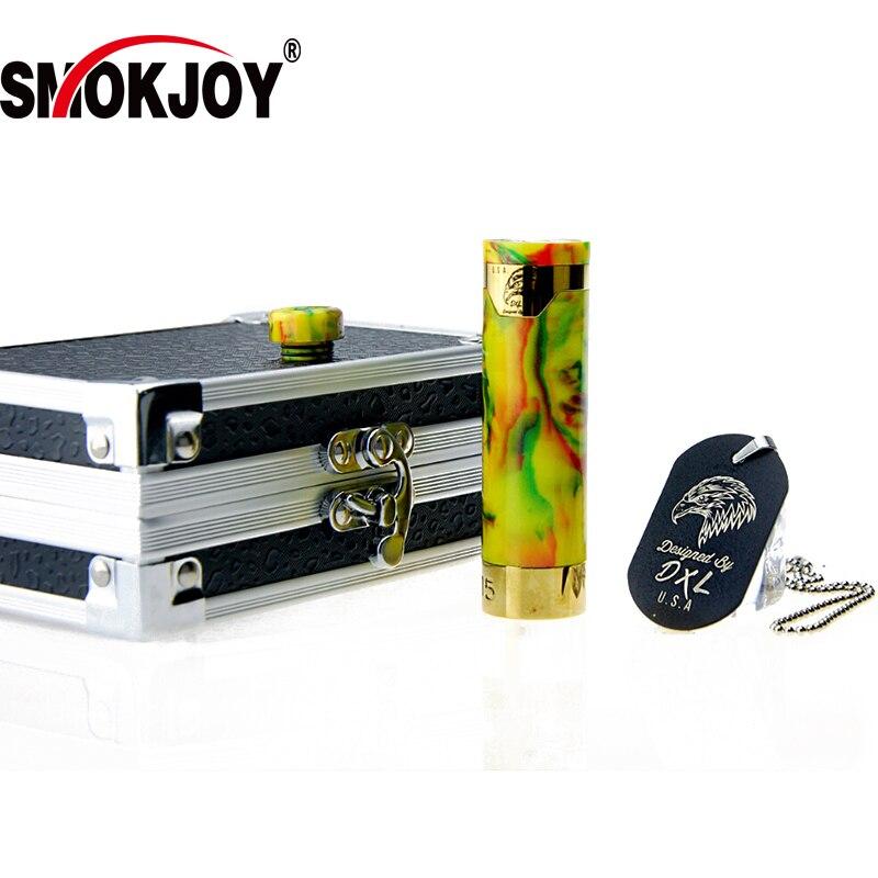 100% первоначально Smokjoy Honor смолы VAPE ручка цвет желтый, синий; размеры 34–43 мех Mod механических моды Elektronik пикантная закуска Sigara Vaping поле Mod