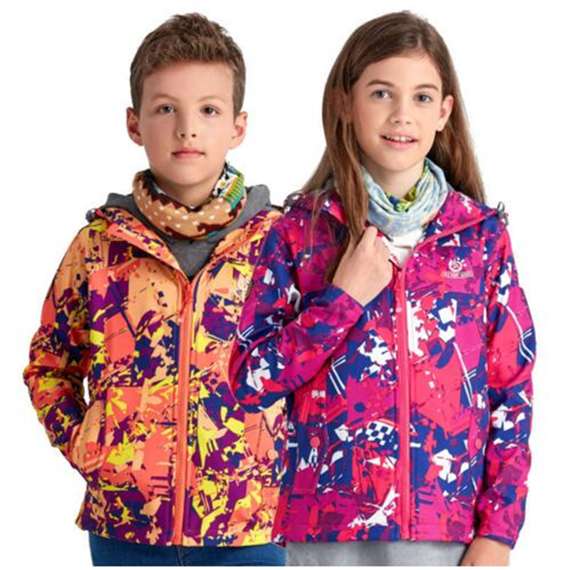 New 2017 Spring Winter Sport Down Windstopper Warm Coat Male Child Brand Design Children's Clothing Outdoor Kids Jacket Parkas
