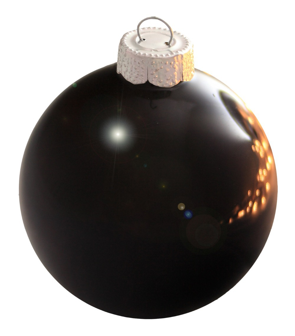 Glass globe ornaments - Free Shipping Event Party Bauble Ornaments Christmas Xmas Tree Glass Balls Decoration 80mm Black Ball Ornament