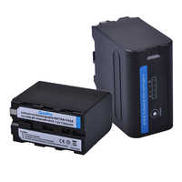 2x 7200mAh NP-F960 NP-F970 Pro Battery with LED Power Indicator for SONY F960 F550 F570 F750 F770 MC1500C 190P 198P F950 HD1000C