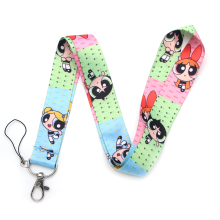V195 The Powerpuff Girls Cartoon Straps Lanyard ID Badge Neck Rope Chain Necklace Jewelry