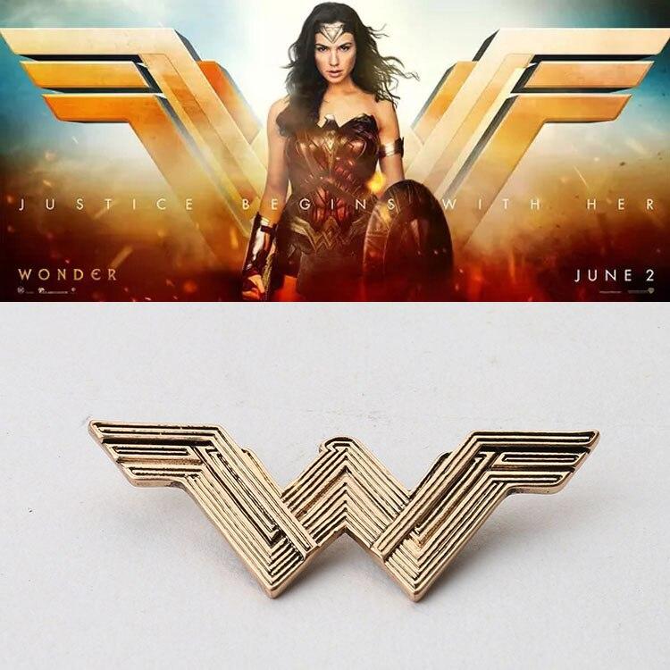 2017 Movie Wonder Woman Princess Diana Prince Logo Cosplay Badges Brooches Pins Gift Accessory Collectibles