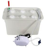 1set Hydroponic System Kit 6 Holes Nursery Pot Kits Mayitr Indoor Garden Cabinet Box Soiless Grow Boxes Gardening Accessory