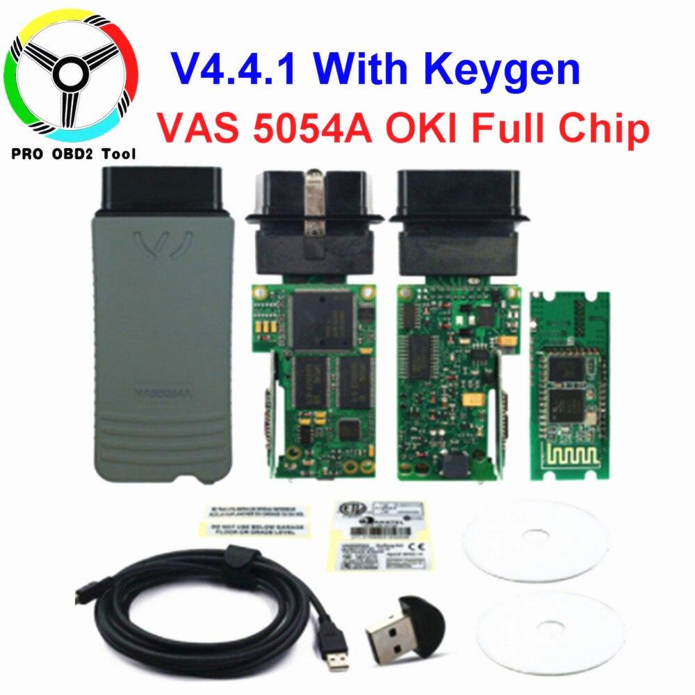Original VAS 5054A OKI ODIS V4.4.1 Keygen Bluetooth AMB2300 VAS 6154 WIFI VAS5054A Full Chip VAS5054 UDS Diagnostic Tool