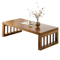 Foldable solid wood coffee table simple living room small apartment creative square modern tea coffee table
