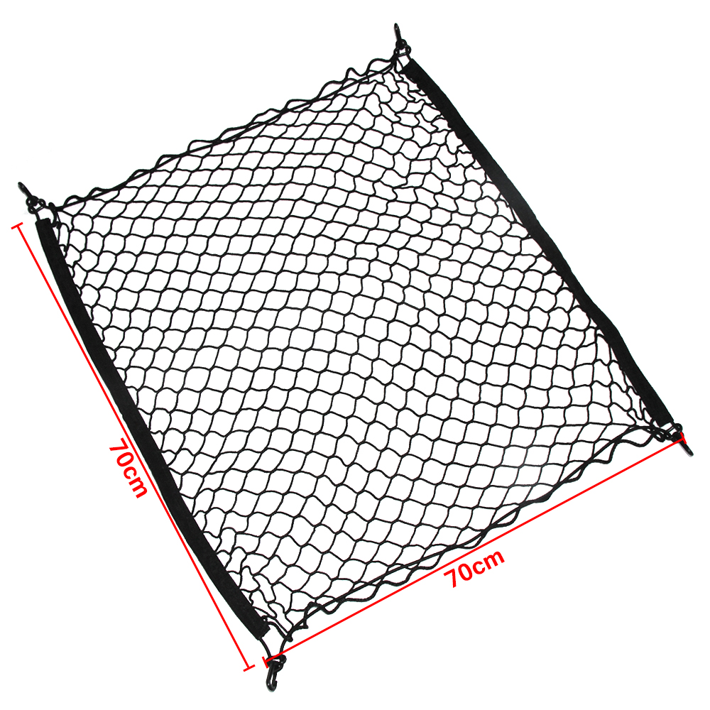4 hooks car trunk cargo organizer storage net for citroen