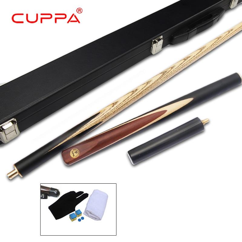 New Cuppa 3/4 Snooker Cue Stick with Case 5A North America Ash Billiard Stick 9.8mm/11.5mm Tip Billiard Cue Snooker Stick