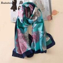 REALSISHOW Hijab Scarf Women Fashion Paisley Scarfs Square Print Soft Satin Scarves Head Handkerchief Wholesale Shawl Wraps square scarf with paisley print