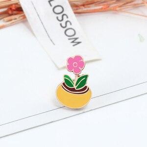 Много цветов, женские эмалированные броши, радужные подсолнечники, японские вишневые цветы, розы, пионы, Мимоза, значки, металлический рюкзак, иконы