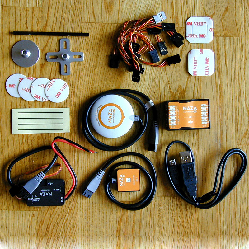 Original Naza M V2 Naza V2 controlador de vuelo más la versión 2,0 con GPS/PMU/LED diseño todo-en-uno para Multicopter