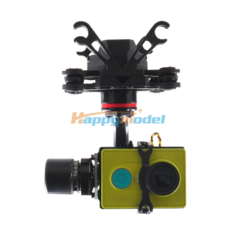 HMG YI3D 3-Axis Brushless Gimbal Camera Mount for Xiaomi XiaoYi FPV Sports Camera suitable for SJ4000 / SJ5000 / Gopro 3 / 4 jmt brushless camera mount gimbal full set tested for gopro fpv aerial photography w motor control board